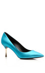Sky Metallic Platino Heel by NICHOLAS KIRKWOOD for Preorder on Moda Operandi