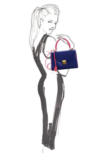 Scottie Small Flap In Midnight Blue by MARK CROSS for Preorder on Moda Operandi