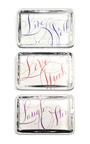 M'o Exclusive: Set Of Three Glass Paperweights by BERNARD MAISNER Now Available on Moda Operandi