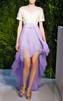Tulle Skirt Gown by DELPOZO for Preorder on Moda Operandi