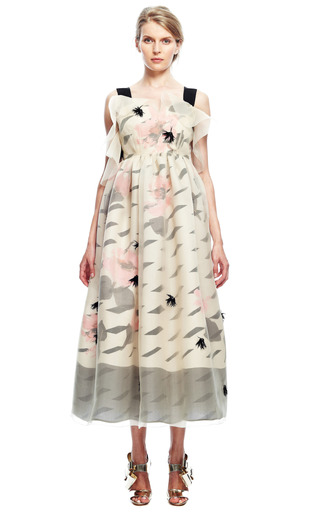 Sheer Overlay Gown by DELPOZO for Preorder on Moda Operandi