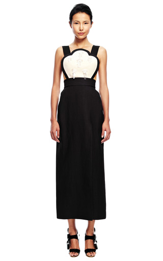 Embellished Bib Dress by DELPOZO for Preorder on Moda Operandi