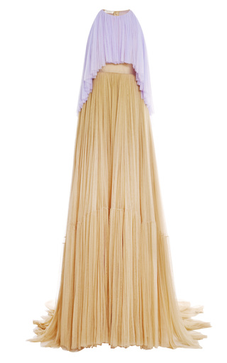 Medium delpozo multi two tone tulle gown