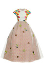 Floral Embroidered Bodice Gown by DELPOZO for Preorder on Moda Operandi