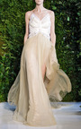 Suspended Patch Bodice Gown by DELPOZO for Preorder on Moda Operandi