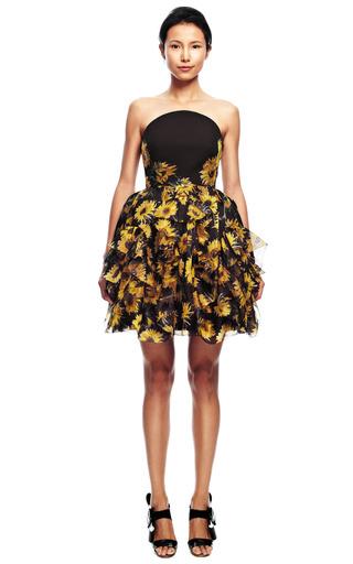 Strapless Sunflower Dress by DELPOZO for Preorder on Moda Operandi