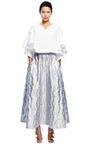 Metallic Jacquard Full Skirt by DELPOZO for Preorder on Moda Operandi