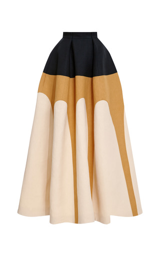 Medium delpozo multi tri tone full skirt