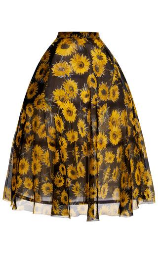 Medium delpozo print sunflower full skirt