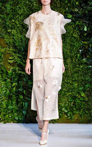 Applique Midi Skirt by DELPOZO for Preorder on Moda Operandi