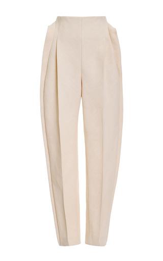 Medium delpozo brown front pleat pant