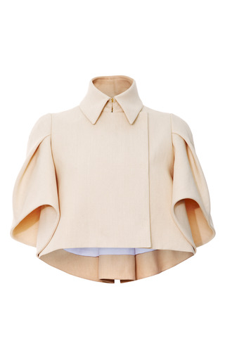 Medium delpozo brown pleated sleeve jacket
