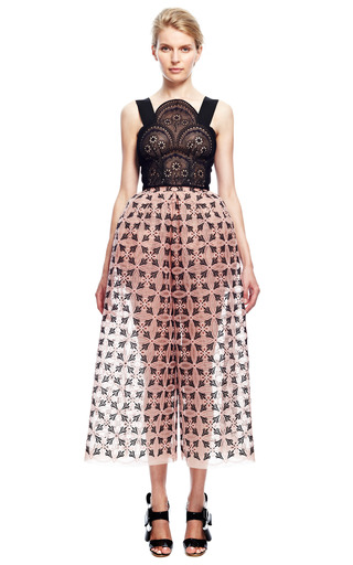 Embellished Bib Crop Top by DELPOZO for Preorder on Moda Operandi