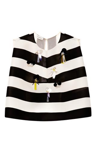 Medium delpozo multi stripe embellished top