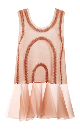 Medium delpozo pink sheer braided tunic