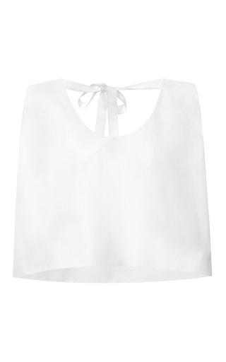 Medium delpozo white poplin tie back top