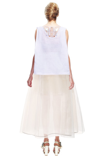 Embellished Patch Bib Top by DELPOZO for Preorder on Moda Operandi