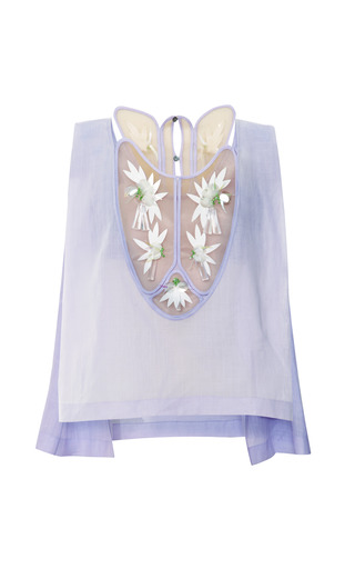 Medium delpozo purple embellished patch bib top
