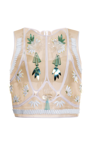Medium delpozo white suspended patch top 2