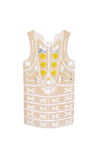 Medium delpozo multi embellished patch tunic top
