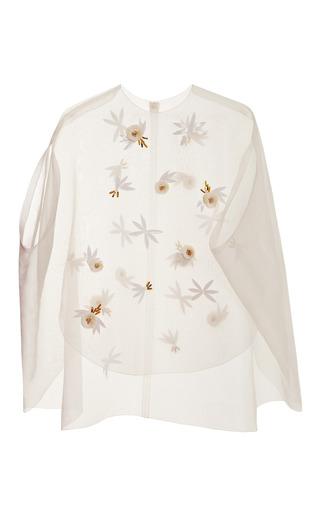 Medium delpozo white applique cape top 2