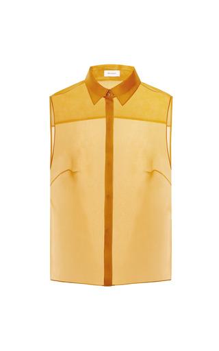 Medium delpozo sleeveless sheer shirt