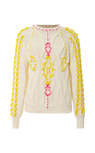 Medium delpozo multi long sleeve knit