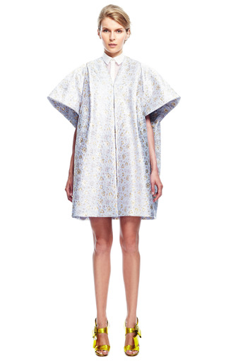 Metallic Jacquard Coat by DELPOZO for Preorder on Moda Operandi
