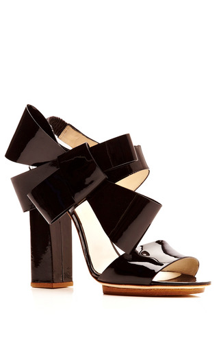 Bow Slingback Sandal by DELPOZO for Preorder on Moda Operandi