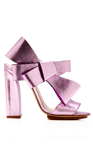 Medium delpozo purple bow slingback sandal 6