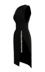 Bonded Crepe Jewel Chain Wrap Dress by THAKOON for Preorder on Moda Operandi