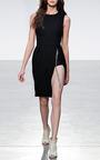Bonded Crepe Jewel Chain Wrap Dress by THAKOON for Preorder on Moda Operandi