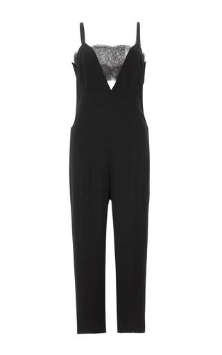 Medium thakoon black cropped lace bandeau jumpsuit