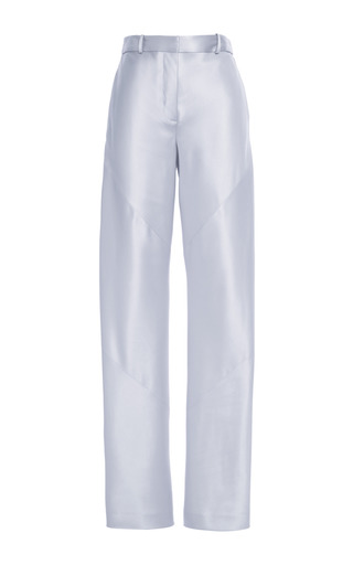 Medium thakoon silver doubleface satin bias seam trousers