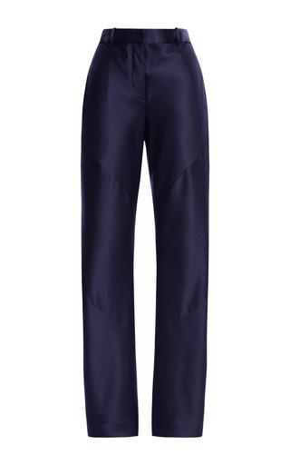Medium thakoon navy navy satin bias seam trousers