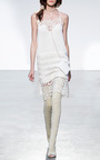 White Lace Embroidered Slip Dress by THAKOON for Preorder on Moda Operandi
