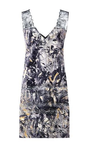 Medium thakoon multi lasercut lace printed cupro dress