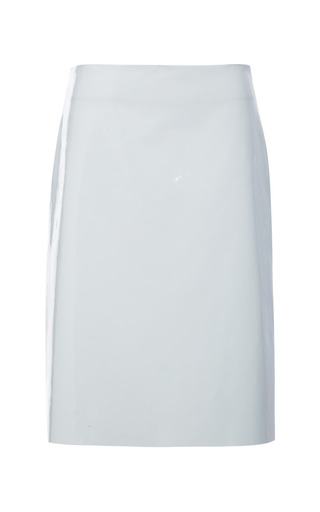 Medium thakoon light green patent leather skirt