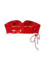 Patent Leather Lips Bandeau Top by THAKOON for Preorder on Moda Operandi