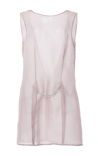 Medium thakoon pink silk gauze jeweled shift dress