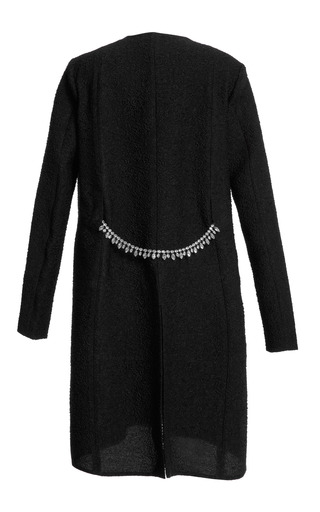 Jacquard Coat With Crystal Chain by THAKOON for Preorder on Moda Operandi