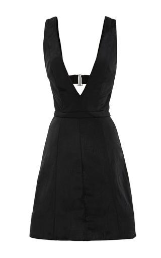 Medium cushnie et ochs black crinkle nylon deep v dress