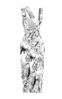 Printed Viscose Triple Strap Dress by CUSHNIE ET OCHS for Preorder on Moda Operandi