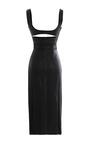 Embossed Python Lambskin Waist Cut Dress by CUSHNIE ET OCHS for Preorder on Moda Operandi