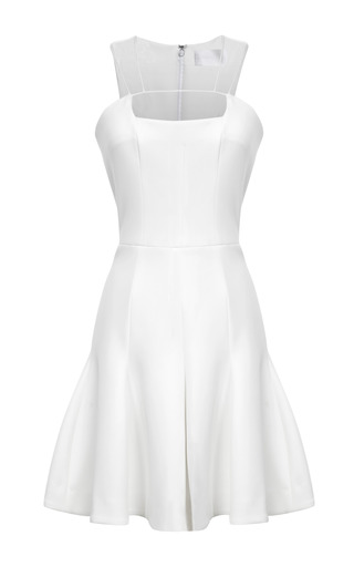 Medium cushnie et ochs ivory neoprene string yoke dress