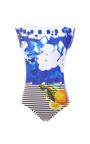 M'o Exclusive: Printed Scoop Back Swimsuit by SALINAS Now Available on Moda Operandi