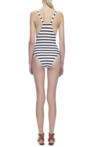 Printed And Striped Swimsuit by SALINAS Now Available on Moda Operandi