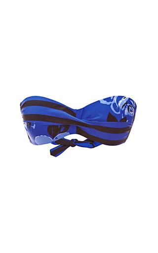 Medium salinas blue printed bandeau bikini top