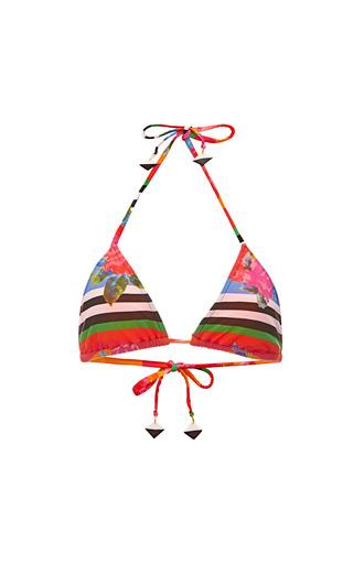 Medium salinas red floral printed triangle bikini top