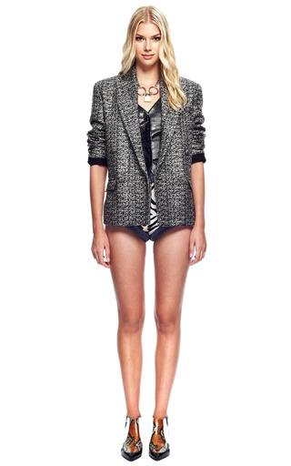 Metallic Tweed Jacket by RODARTE for Preorder on Moda Operandi